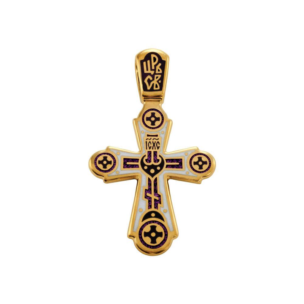 Крест нательный Акимов 103.018 «Голгофа. Свет Христов Просвещает Всех»