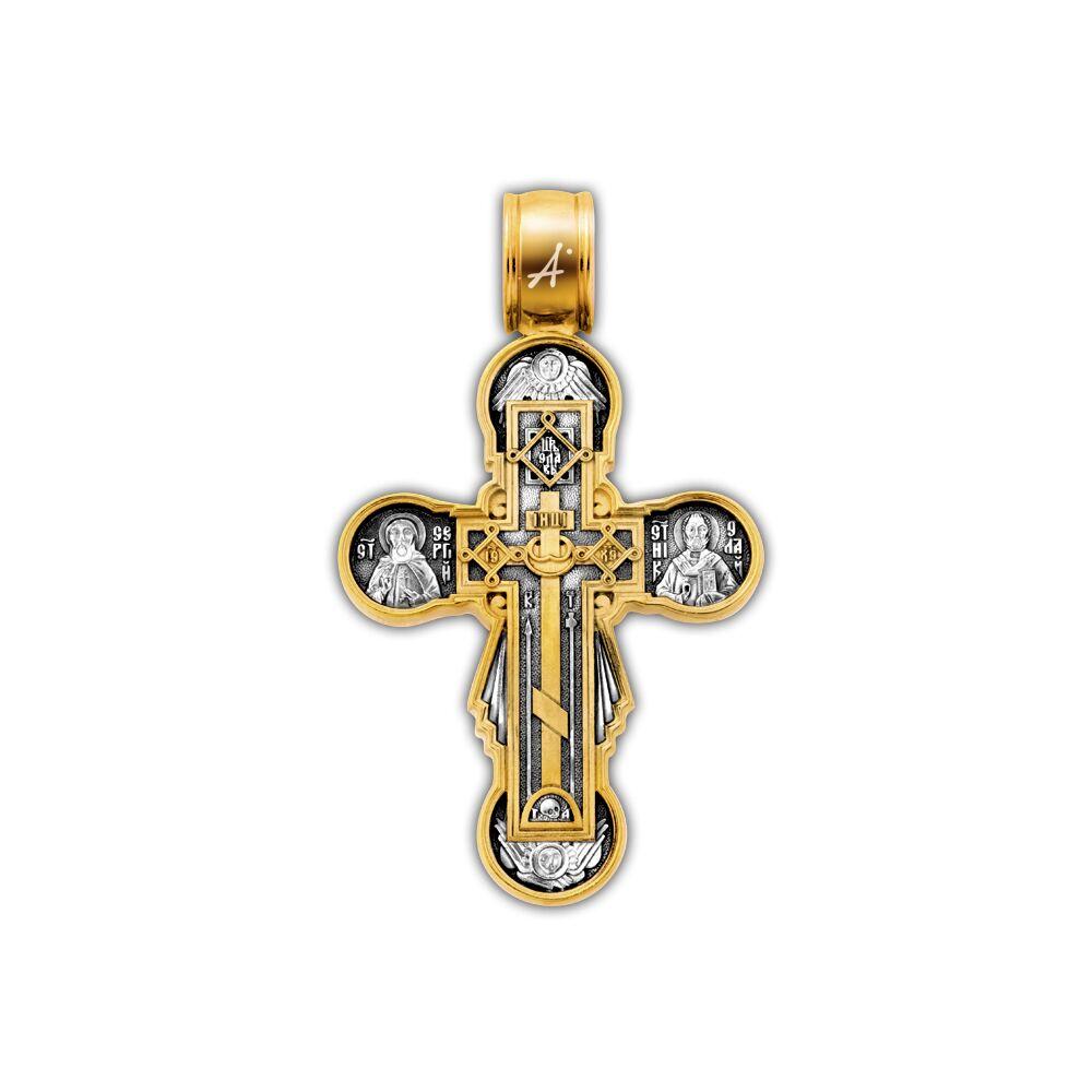 Крест нательный Акимов 101.260 «Голгофа. Икона Божией Матери «Нерушимая Стена»