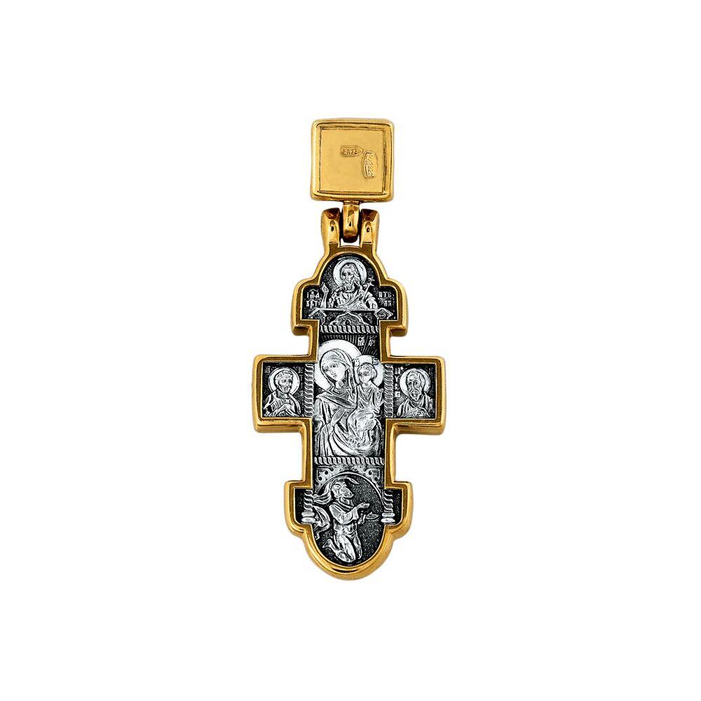 Хрест натільний Акімов 101.096 «Явлення Христа до жінок-мироносиць. Ікона Божої Матері «Несподівана Радість»