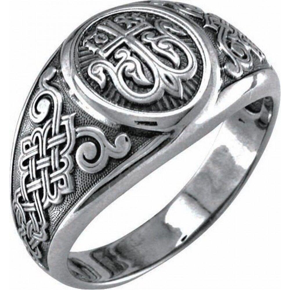 Guard Ring Akimov 108.040 «Cross in Blossom» Silver
