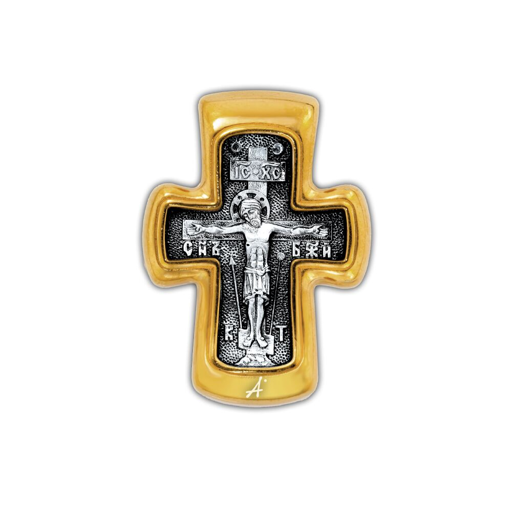 Neck Cross Akimov 101.276 «Crucifix. St. Nicholas the Wonder Maker. Prayer»