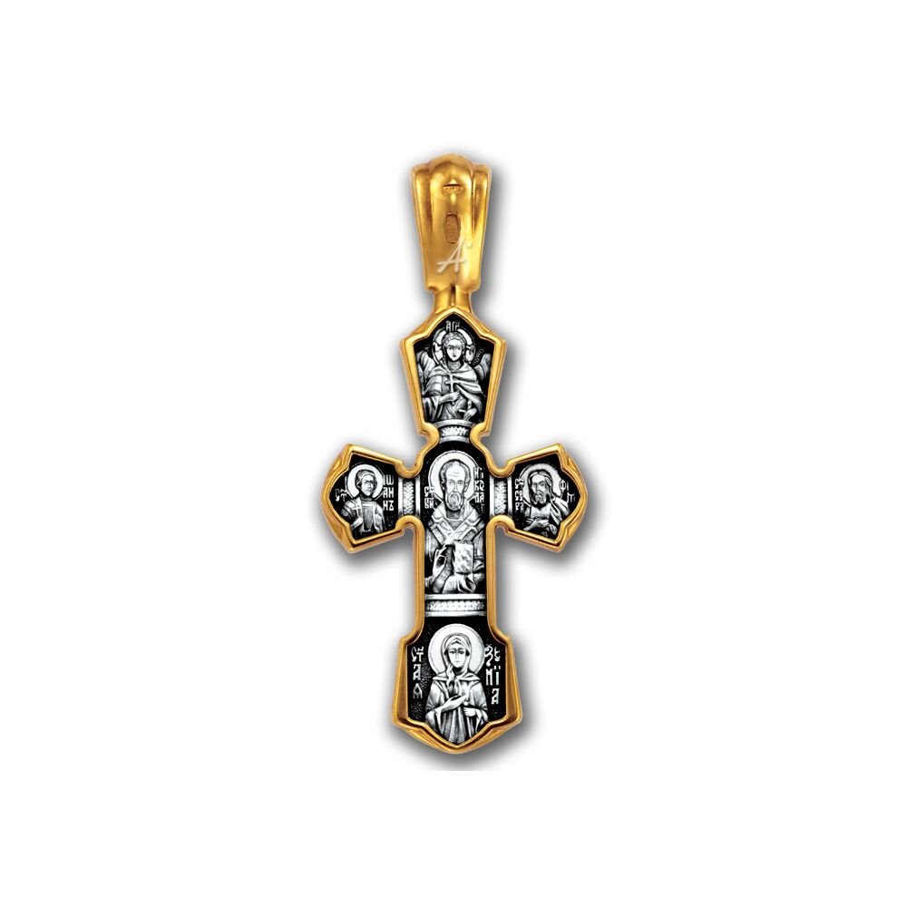Neck Cross Akimov 101.243 «Crucifix. St. Nicholas the Wonderworker»