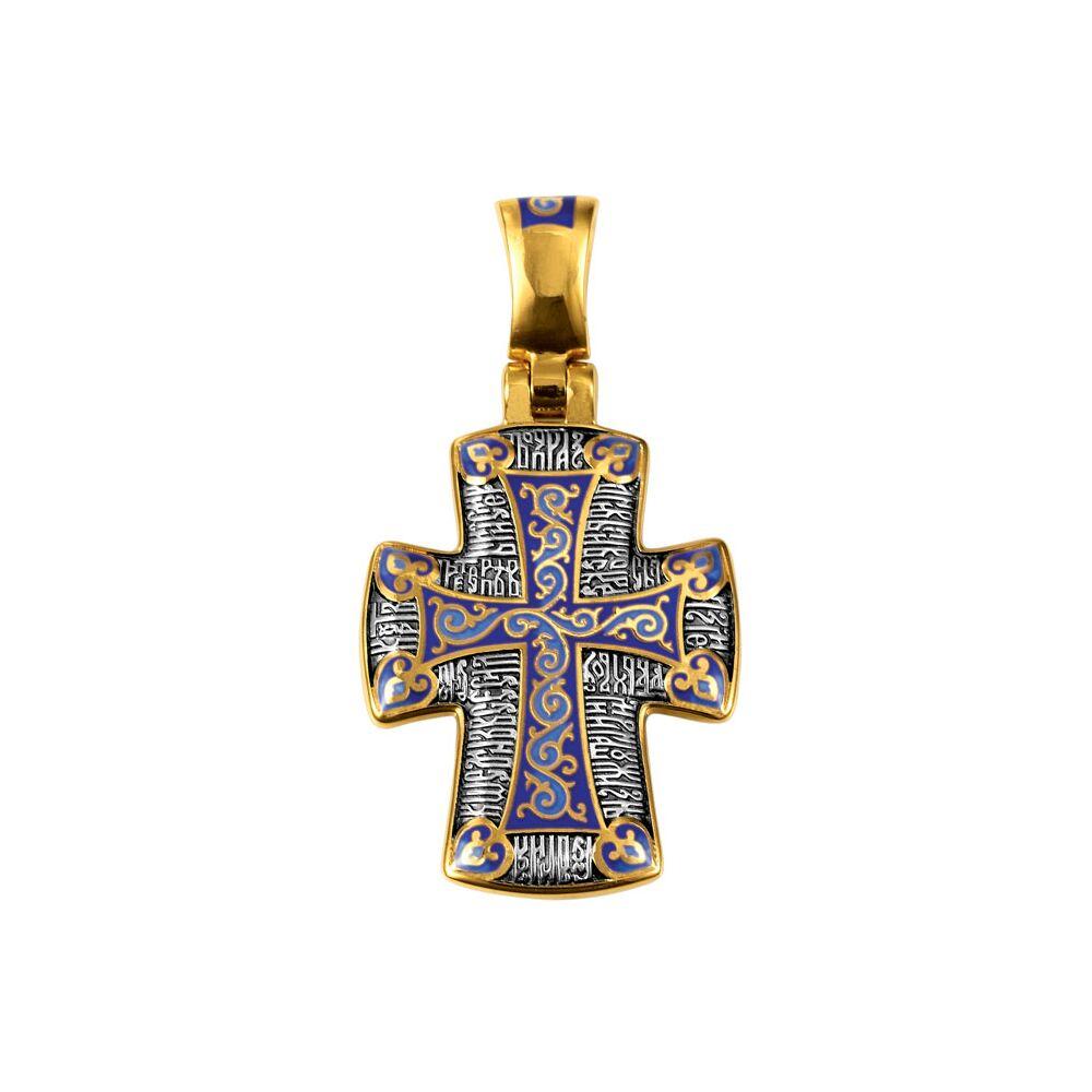 Neck Cross Akimov 103.071 «Crucifix. The Christocentric prayer»