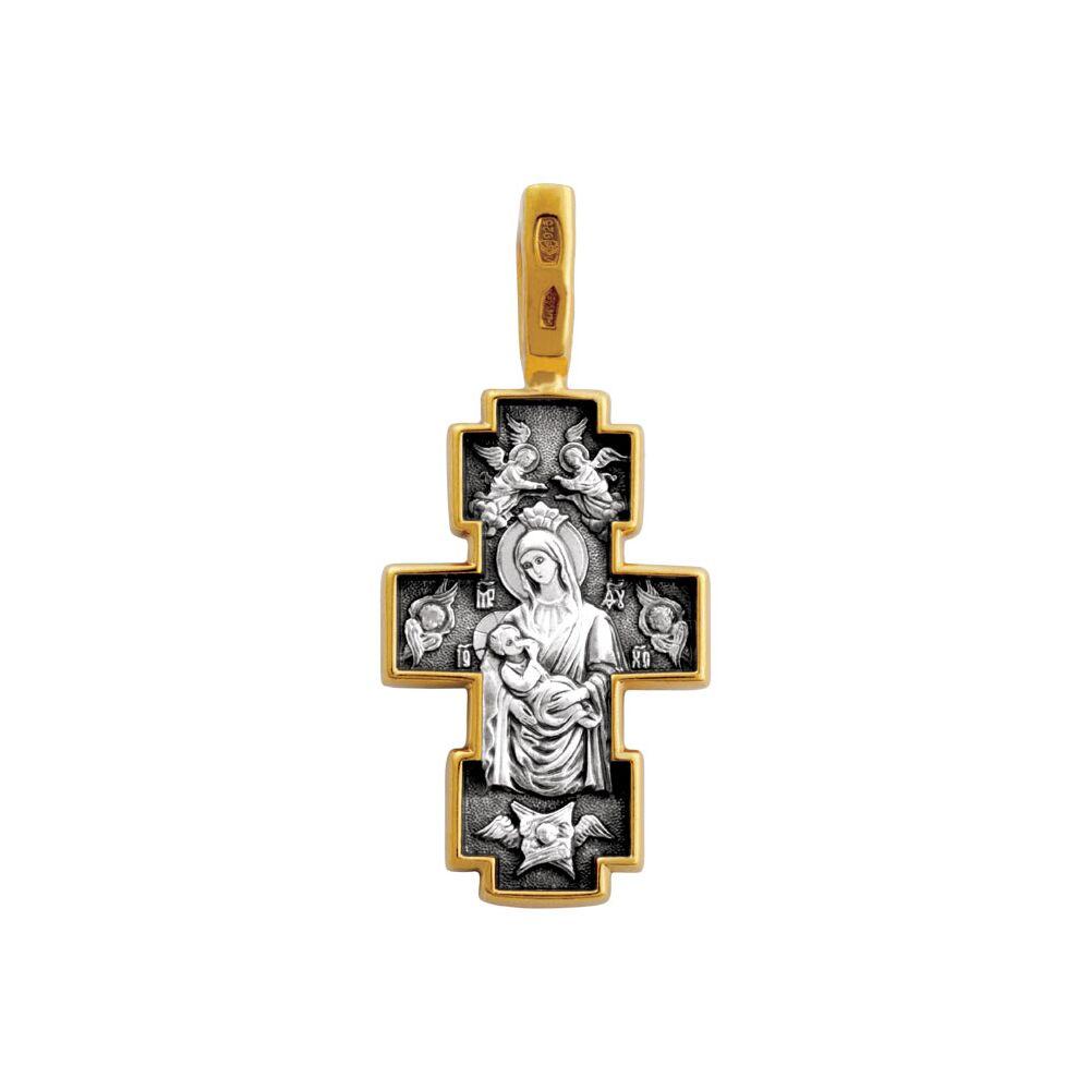 Хрест натільний Акімов 101.213 «Розп'яття.Ікона Божої Матері «Годувальниця»