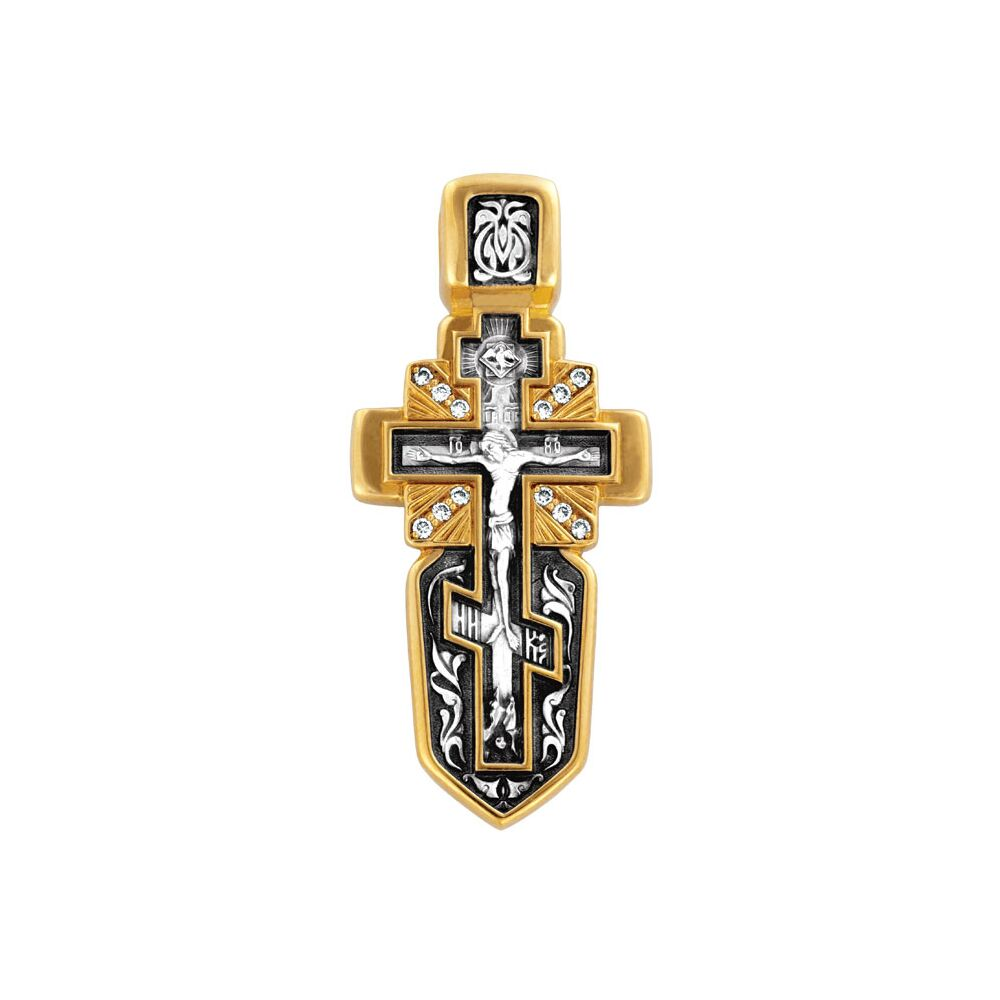 Крест нательный Акимов 101.214/K «Распятие с Андреевским крестом. Ангел Хранитель»