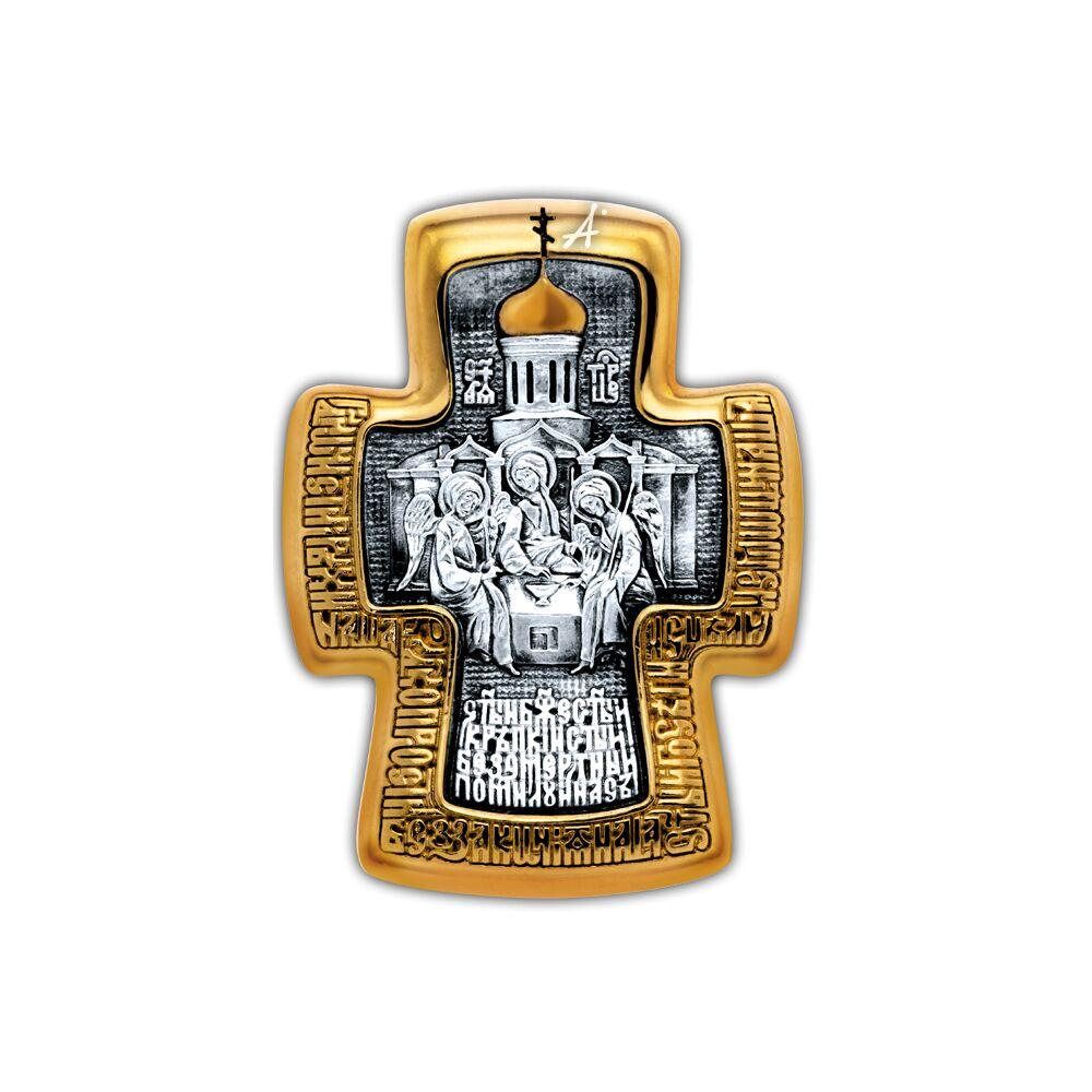 Neck Cross Akimov 101.256 «Holy Trinity. Blessed Sergius of Radonezh»