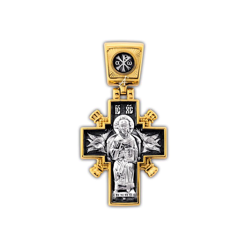 Крест нательный Акимов 101.261 «Иисус Христос «Царь царей». Икона Божией Матери «Державная»