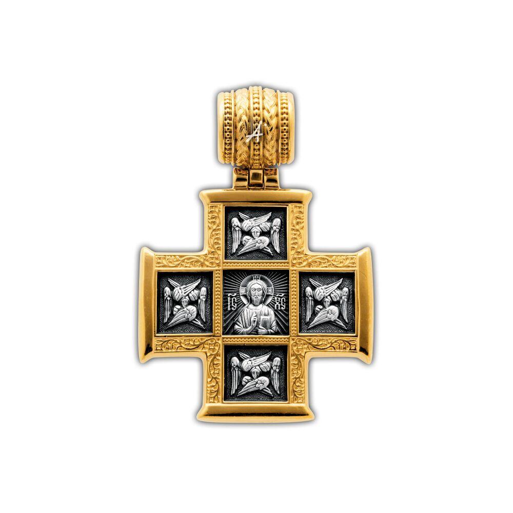 Крест нательный Акимов 101.255 «Господь Вседержитель. Великомученик Пантелеимон со сценами жития»