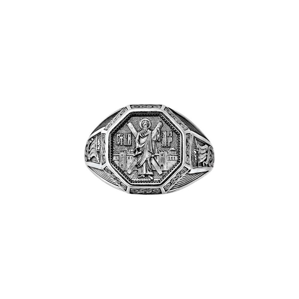 Guard Ring Akimov 108.042 «St. Andrew, the Apostle Protókletos (the First-Called)» Silver