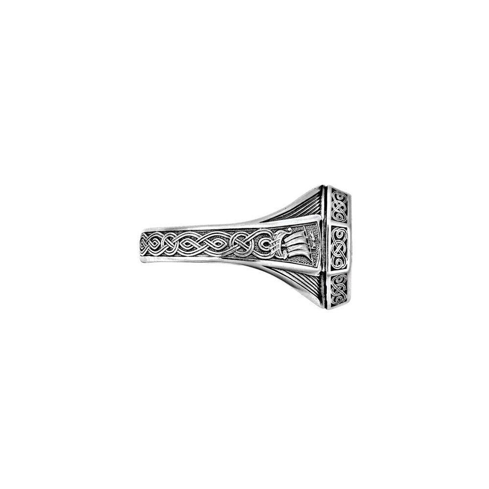 Охранное кольцо Акимов 108.042 «Святой апостол Андрей Первозванный» Серебро