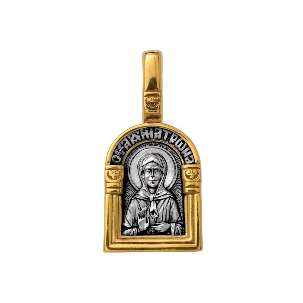Образок Акимов 102.111 «Святая блаженная Матрона Московская. Ангел Хранитель»
