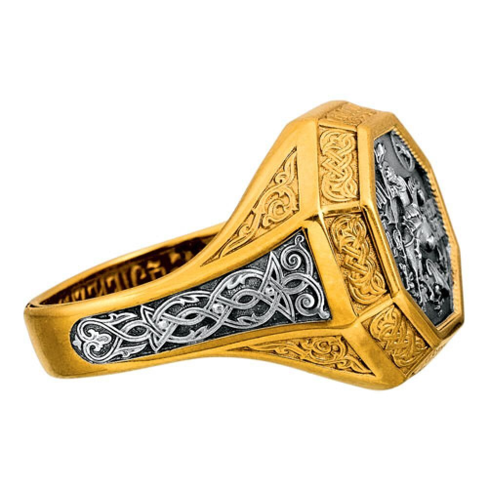 Guard Ring Akimov 108.043-P «St. George, the Great martyr» Gilding