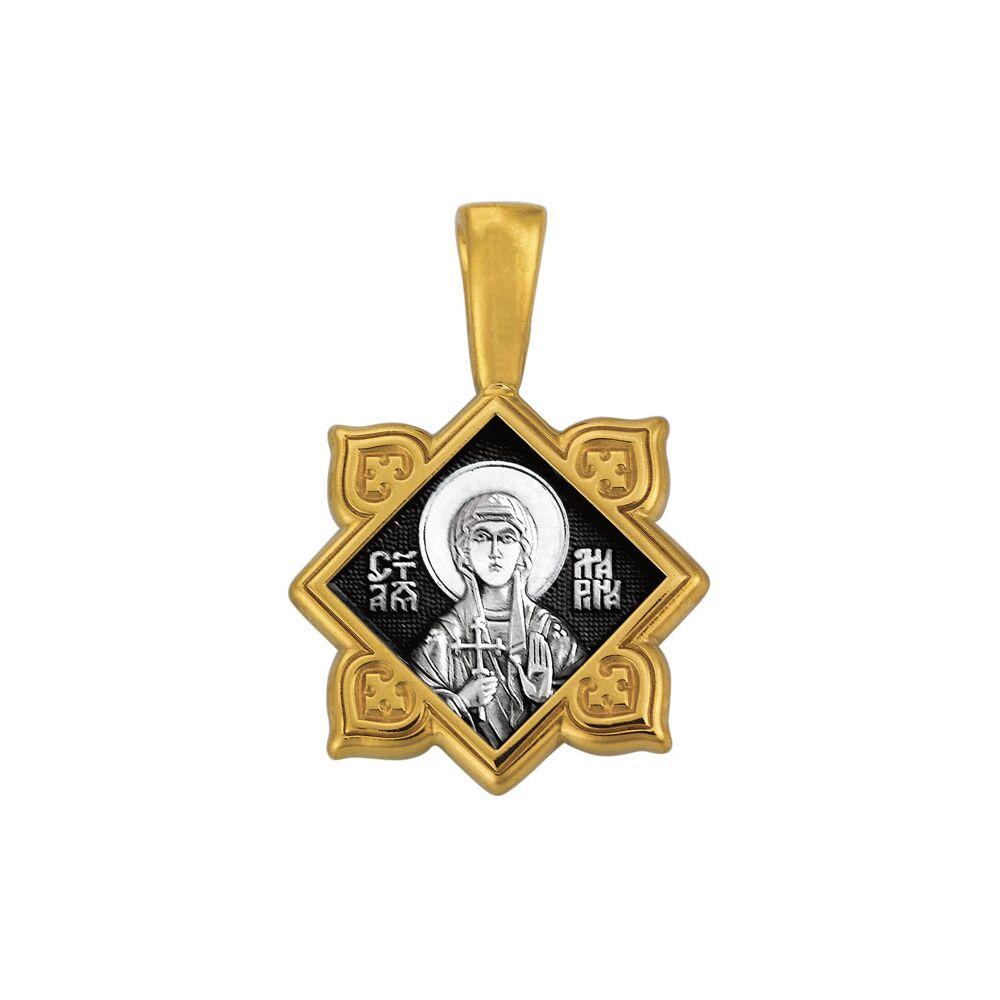 Образок Акимов 102.135 «Святая великомученица Марина (Маргарита). Ангел Хранитель»