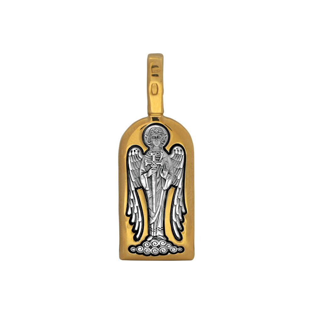 Образок Акимов 102.120 «Святой преподобный Максим Исповедник. Ангел Хранитель»
