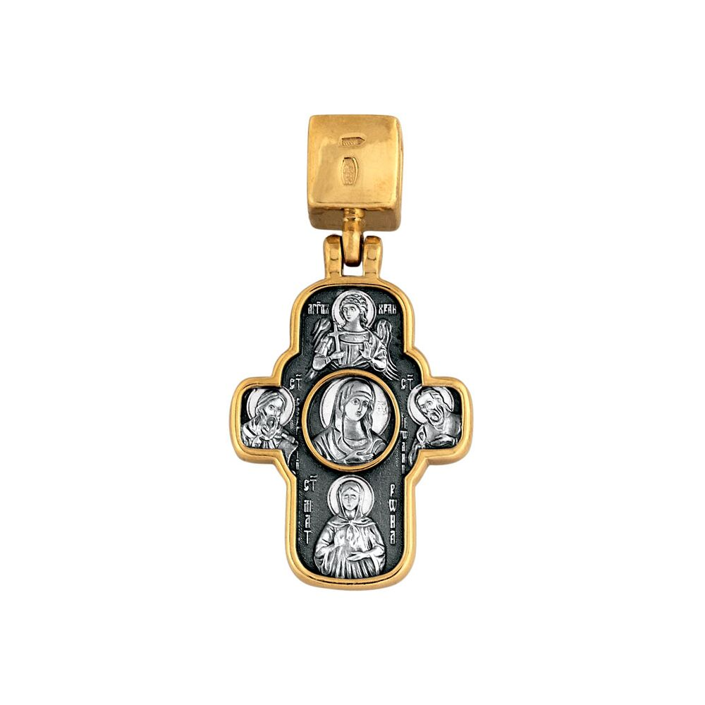 Neck Cross Akimov 101.099 «Sts. Cyril and Methodius. «The Icon of the Mother of God «Quick to Hearken»