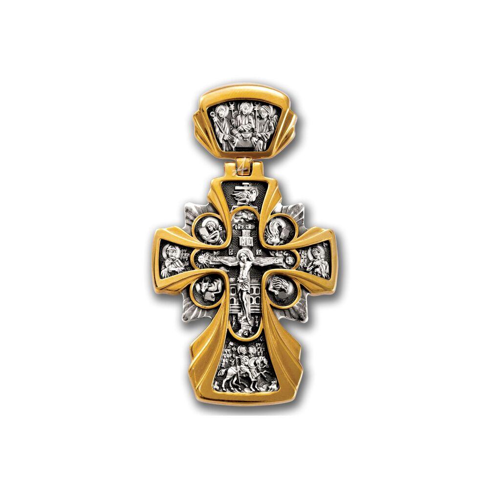 Крест нательный Акимов 101.227 «Распятие. Икона Божией Матери «Державная»