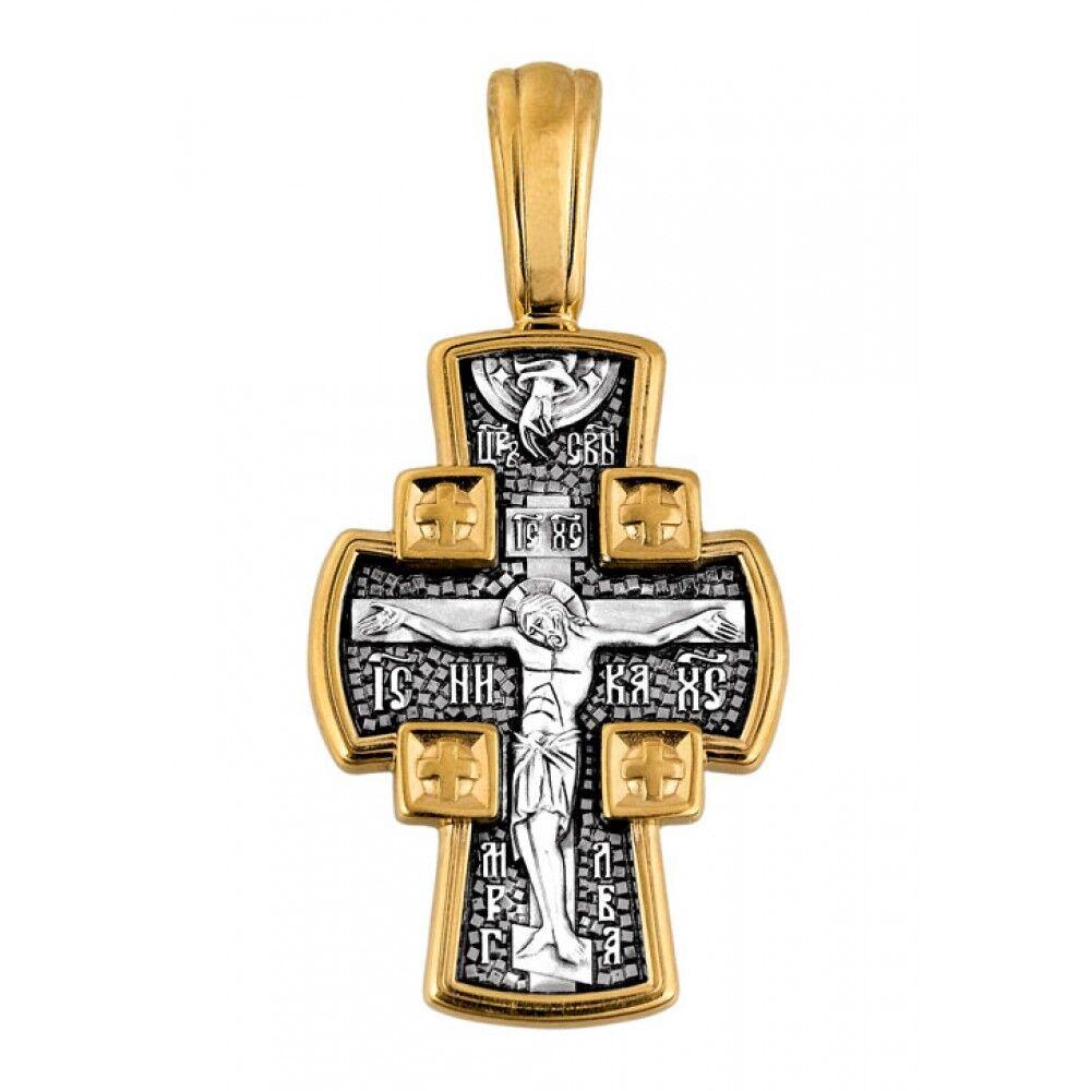 """Хрест натільний Акімов 101.085 «Розп'яття Господнє.Ангел охоронець"""""""