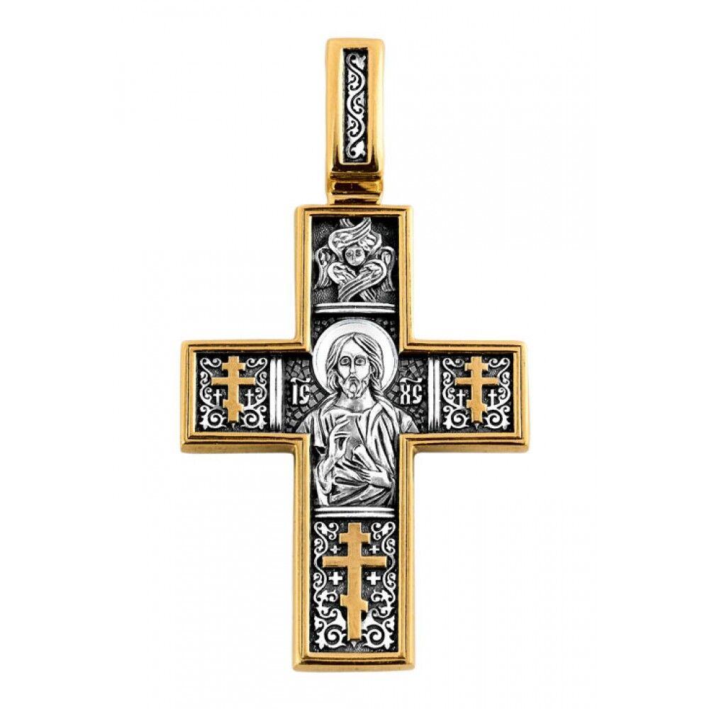 Крест нательный Акимов 101.087 «Господь Вседержитель. Св.мученик Трифон»