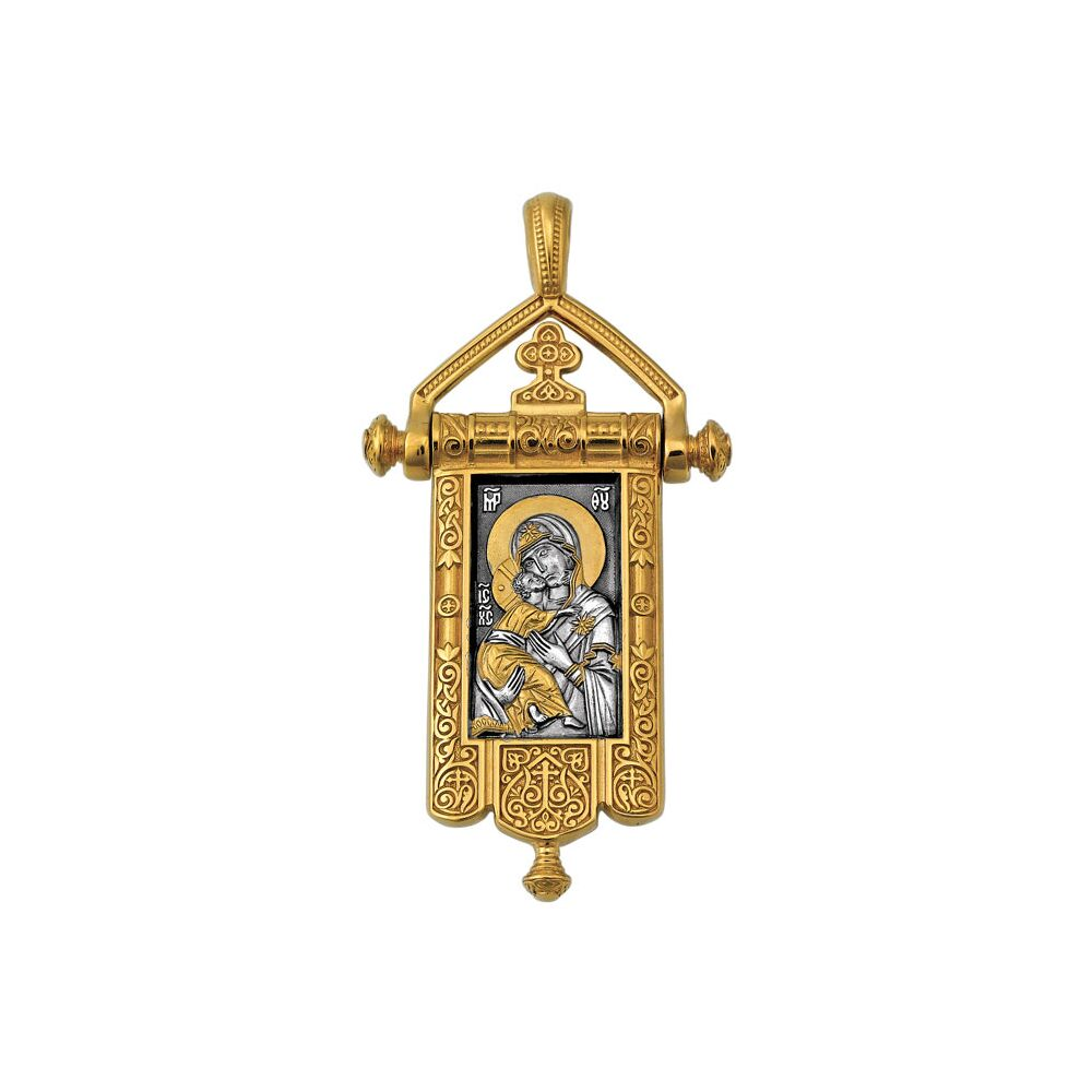 Icon Akimov 102.124 «The Vladimir Icon of the Mother of God. The Cross in Blossom»