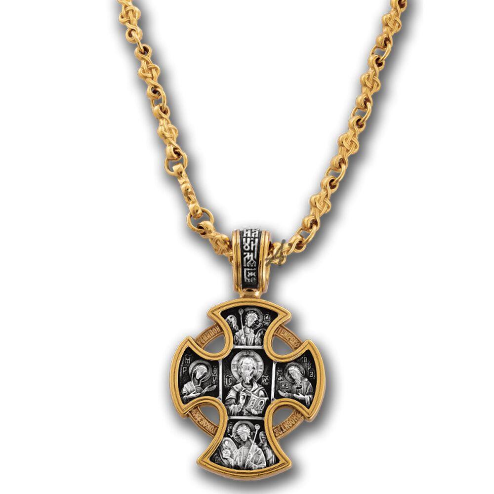 Цепь Акимов 105.021-P «Плетеный крест» Замок-карабин Позолота