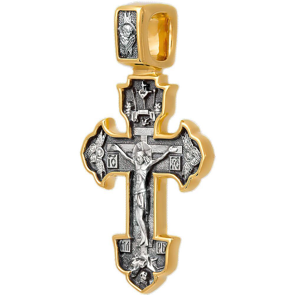 Крест нательный Акимов 101.239 «Распятие. Ангел Хранитель»