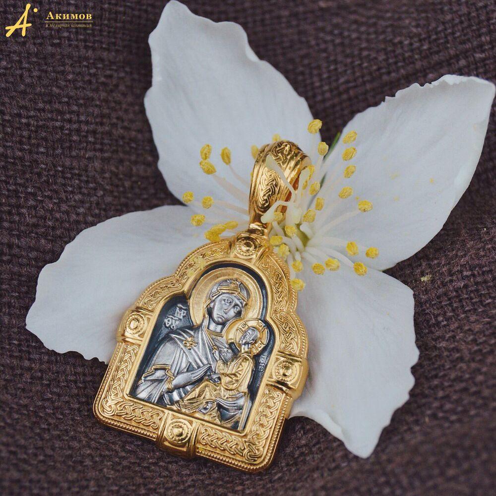 Образок Акимов 102.012 «Тихвинская икона Божией Матери»