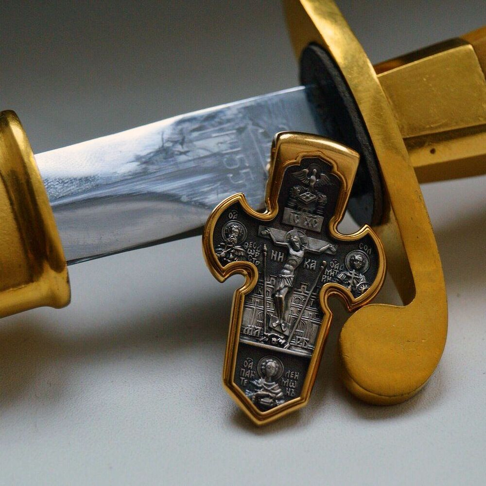 """Хрест натільний Акімов 101.004 «Розп'яття.Архангел Михаїл"""""""