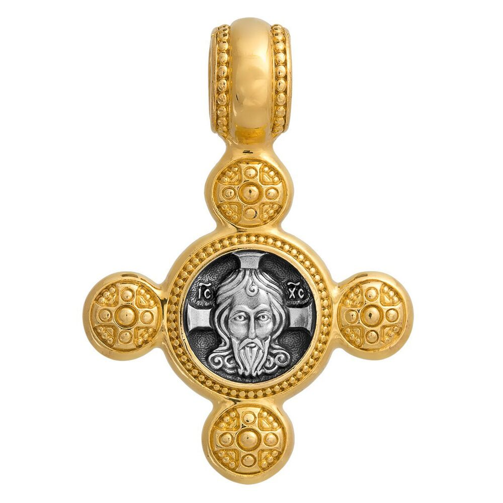 Neck Cross Akimov 101.017 «The Saviour Not-Made-by-Hands (Vernicle Image of the Saviour). Guardian Angel»