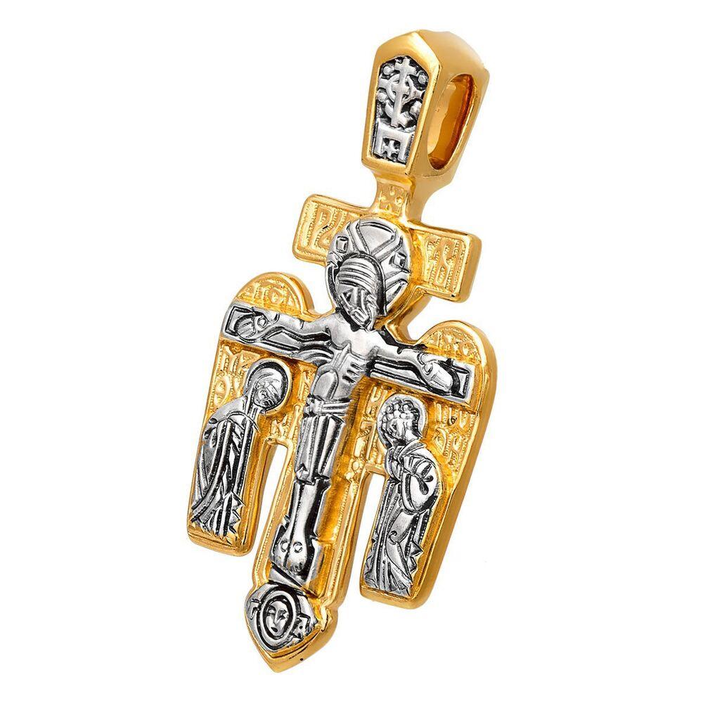 Крест нательный Акимов 101.024 «Распятие. Архангел Михаил»