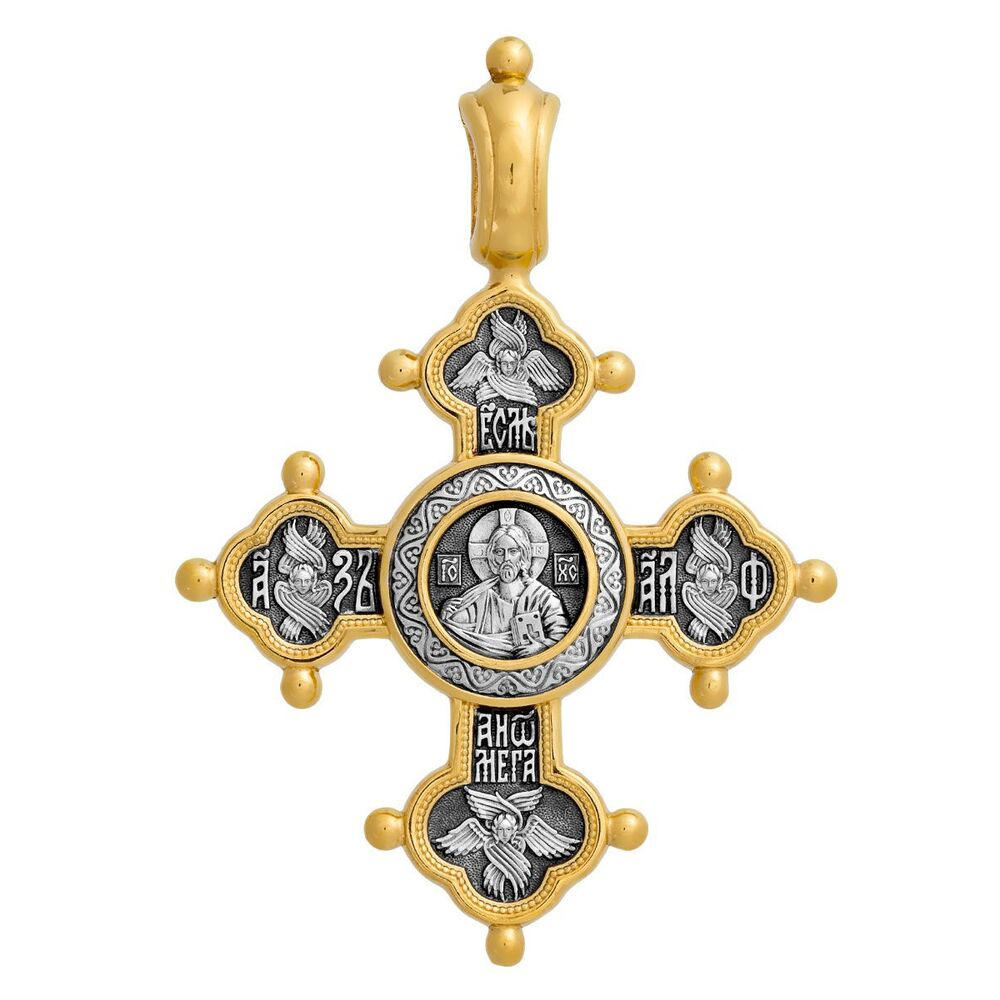 Neck Cross Akimov 101.025 «The Lord Almighty (Pantocrator). Eulogy on the Mother of God»