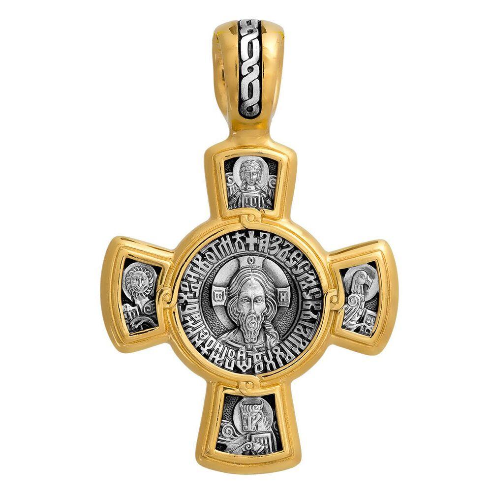 Neck Cross Akimov 101.029 «The Saviour. The Kasperovskaya Icon of the Mother of God»