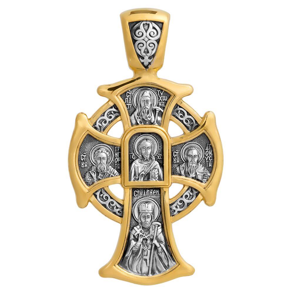 Крест нательный Акимов 101.061 «Господь Вседержитель. Икона Божией Матери «Отрада и утешение»
