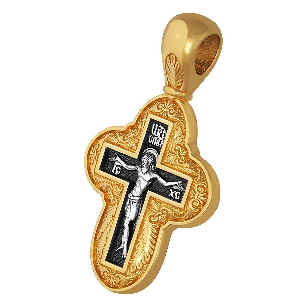 Крест нательный Акимов 101.063 «Распятие. Молитва Животворящему Кресту»