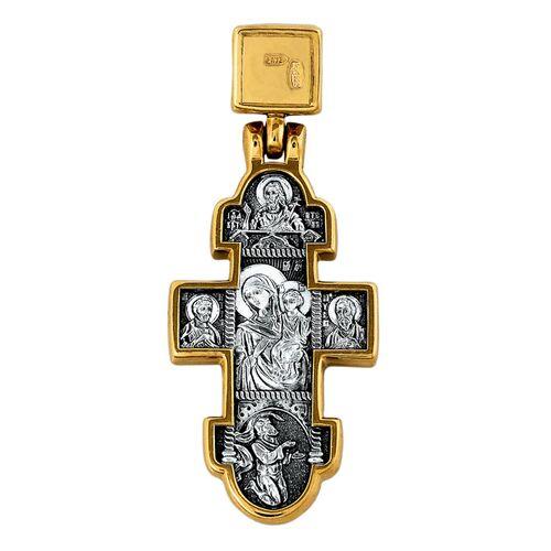 Крест нательный Акимов 101.096 «Явление Христа женам-мироносицам. Икона Божией Матери «Нечаянная Радость»
