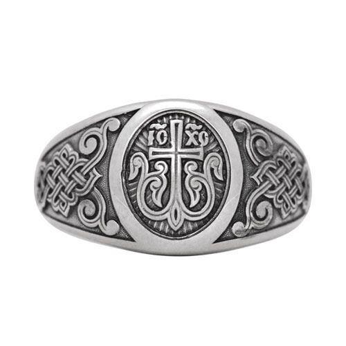 Guard Ring Akimov 108.040 «Cross in Blossom» Silver