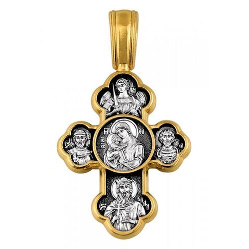 Крест нательный Акимов 101.073 «Крестовоздвижение. Донская икона Божией Матери»