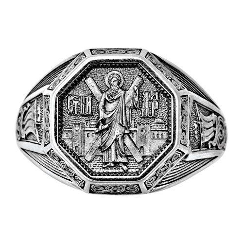 Охоронне кільце Акімов 108.042 «Святий апостол Андрій Первозванний» Срібло