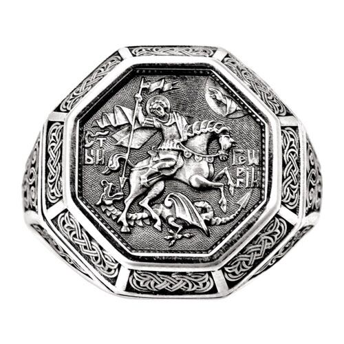 Guard Ring Akimov 108.043 «St. George, the Great martyr» Silver