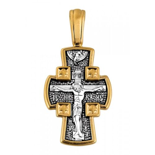 Neck Cross Akimov 101.085 «The Crucifixion of the Lord. Guardian Angel»