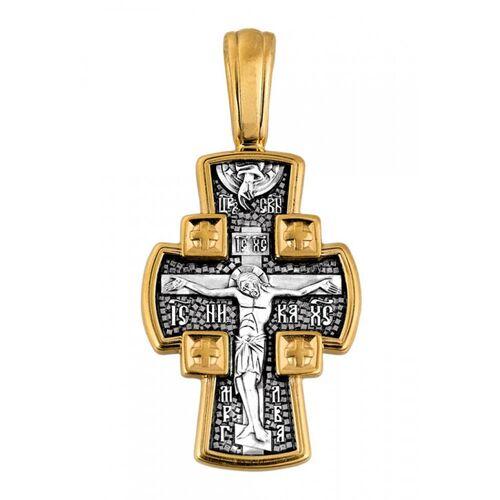 Крест нательный Акимов 101.085 «Распятие Господне. Ангел Хранитель»