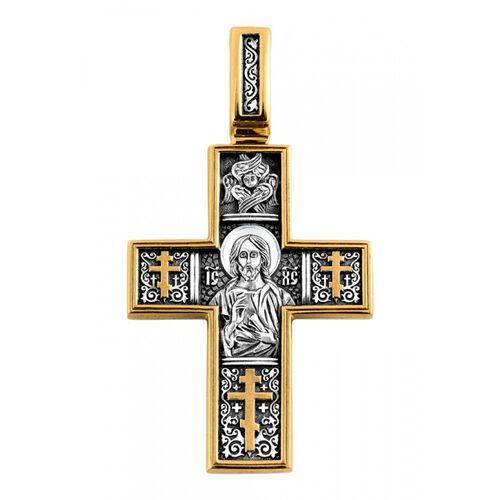Neck Cross Akimov 101.087 «The Lord Almighty (Christ Pantocrator). St. Tryphon Martyr»