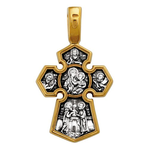 Neck Cross Akimov 101.208 The Lord Almighty. The Icon of the Mother of God «Of the Seven Lakes (Sedmiezernaya)»
