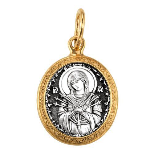 Образок Акимов 102.206 «Икона Божией Матери «Семистрельная»