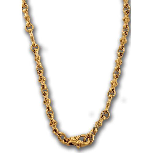"Chain Akimov 105.021-P ""Wicker cross"" Locking Carabiner Gilding"