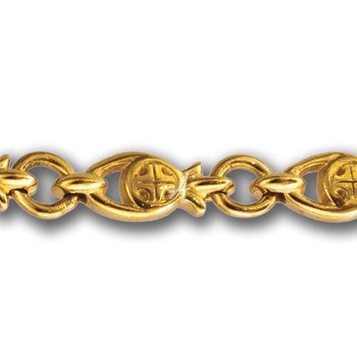Chain Akimov 105.232-P «Fishes» Locking Carabiner Gilding