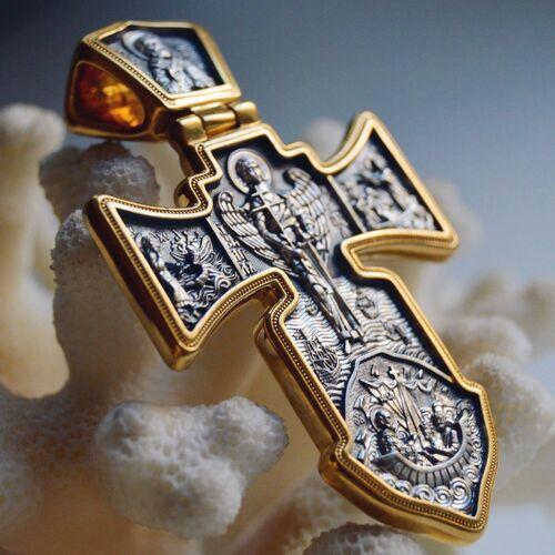 """Хрест натільний Акімов 101.002 «Розп'яття.Ангел охоронець"""""""