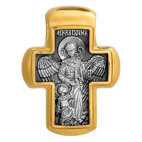 Крест нательный Акимов 101.005 «Распятие. Ангел Господень. Иоанн Предтеча»