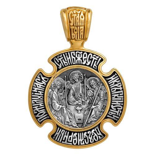Крест нательный Акимов 101.016 «Троица. Божия Матерь «Знамение»