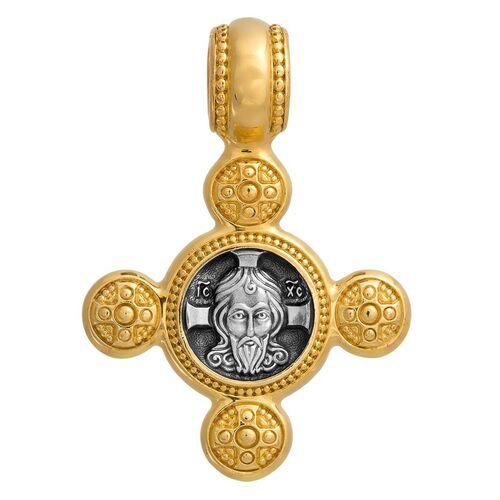 Крест нательный Акимов 101.017 «Спас Нерукотворный. Ангел Хранитель»