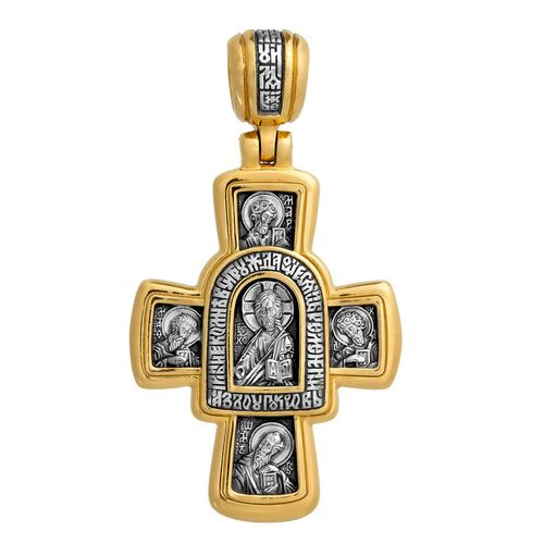 Neck Cross Akimov 101.026 «The Lord Almighty (Christ Pantocrator). The Iviron icon of the Mother of God»